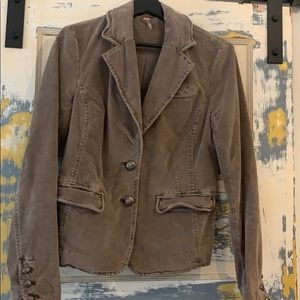 Free People Cord blazer.  Faded brown Size S